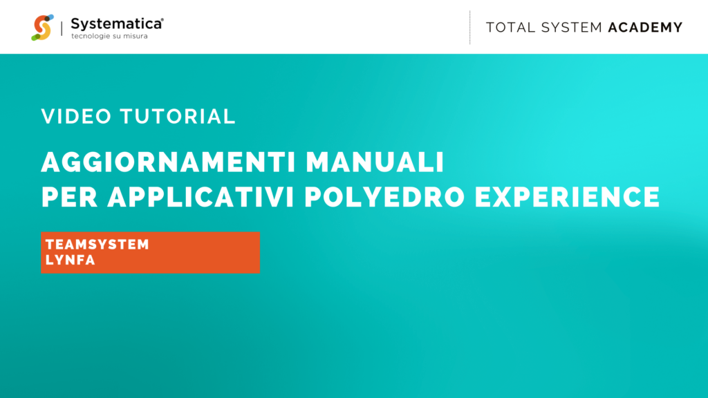 Aggiornamenti manuali per applicativi Polyedro Experience